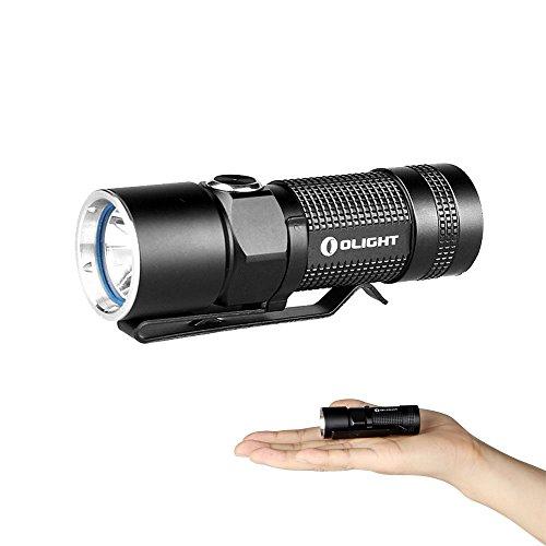 400 Max Speicher (Olight® S10-L2 Baton Taschenlampe LED CREE XM-L2 400 Lumen, Wasserdicht IPX8, Endstückkappe mit Magnet, Schwarz - Angetrieben durch 1 x RCR123A / CR123A Batterien (Nicht Enthalten))