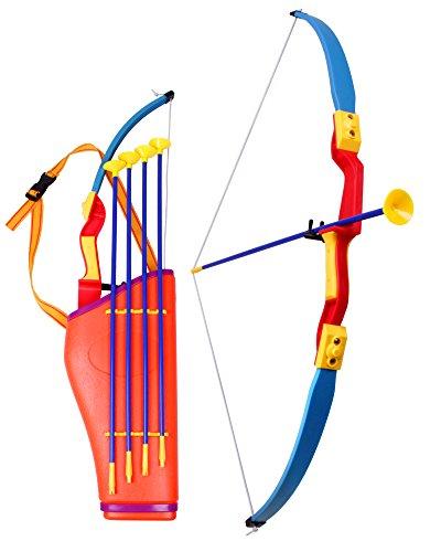 gen Set für Kinder mit Köcher zum Bogenschießen inkl. 4 Pfeile 76 cm ()