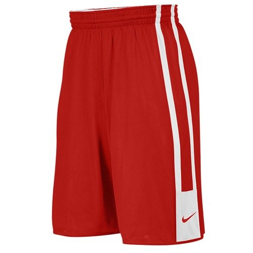 Nike Stock League Rev Shorts, Tm Scarlet/Tm White, M, 553403-658 (Shorts Nike Reversible)