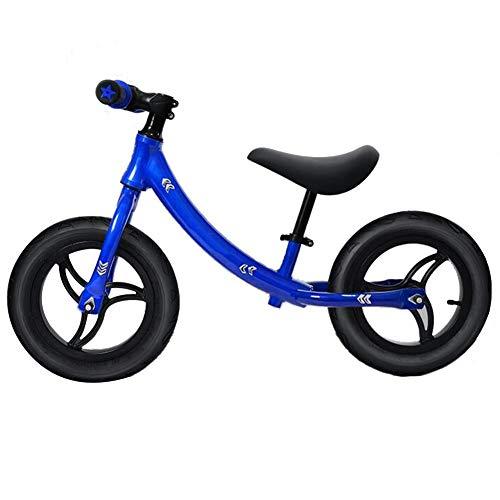 CQILONG-Laufrad Kinder Balance Bikes Trainingsfahrrad Kleinkind-Roller Unendliche Rotation Weich Geschwungener Sitz Für Kinder Von 2 Bis 6 Jahren, 3 Farben (Color : Blue, Size : 85x50-60cm)