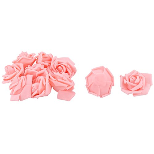 sourcing map 10pcs Hochzeit Schaum Handwerk Girlande Dekor künstlich Rose Blume Kopf Hellrosa DE de