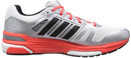 adidas Supernova Sequence Boost, Chaussures de running entrainement homme Argent (ftwr White/core Black/solar Red)