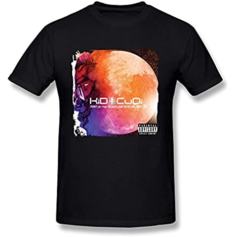 Arnoldo Blacksjd Men's Kid Cudi Man On The Moon The End Of Day T-shirt