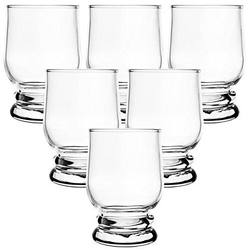 Trinkgläser Set 6 teilig | Hochwertige Saftgläser / Wassergläser aus Glas - schönes Trinkgefühl ohne scharfe Kanten - spülmaschinenfest - Füllmenge max. 250ml