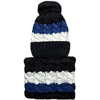 Happy Event Frauen Hut Lätzchen | Warm Ohr Velvet Thicken Fluff Ball häkeln Winter Haarball Caps