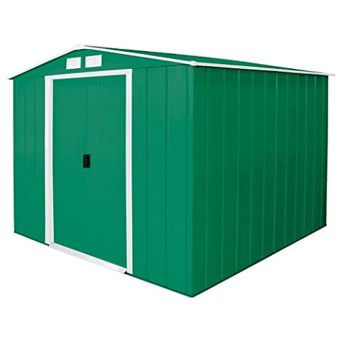 Duramax 8 x 8ft Eco Metal Shed with OW Trim - Green
