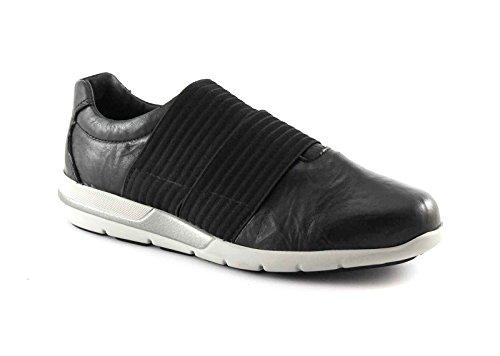 IGI & CO 67691 chaussures de baskets noires glissent sur la mousse de mémoire élastique de la peau Nero