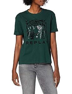 REPLAY W3232e.000.20994 Camiseta, 879 Pine
