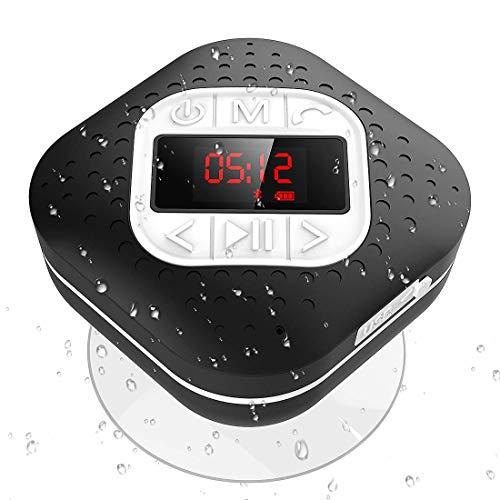 Altavoz Bluetooth Ducha Impermeable con Ventosa Extraíble, AGPTEK Radio Ducha Portátil con...