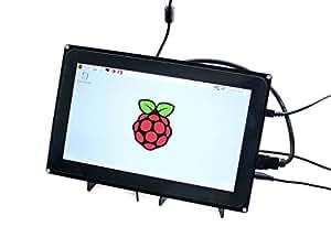 Waveshare Raspberry Pi 10.1inch HDMI LCD 1024x600 Capacitive Touch Screen with case for Raspberry Pi 2 3 Model B B BeagleBone Black Support Raspbian Ubuntu Windows 10 IoT with Video Input