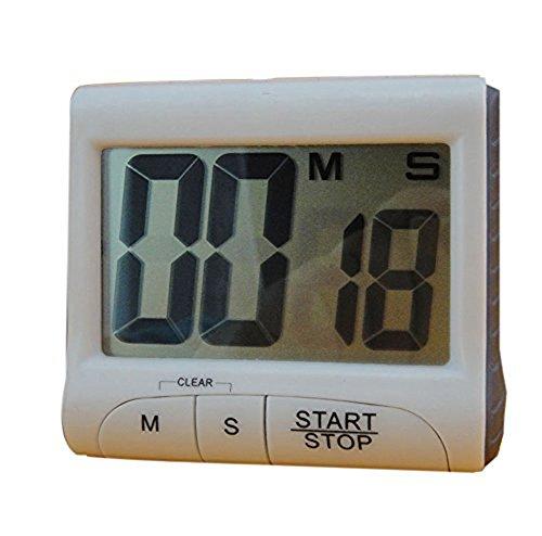 Preisvergleich Produktbild CAOLATOR Küchentimer Mechanische Zeitschaltuhr Zählt Up oder Down Elektronische Küche Digital Timer Weiß