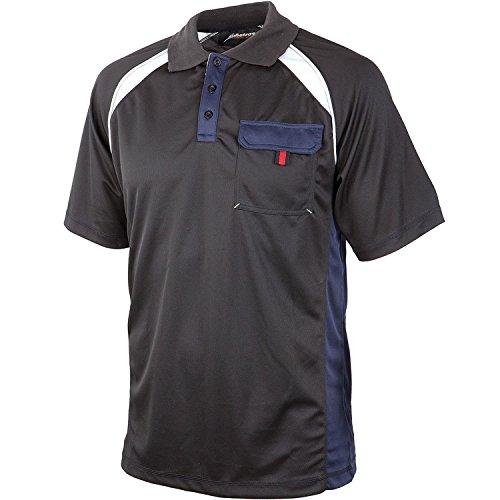 "Albatros 297810-256-XXL Funktions-Polo-Shirt ""Cooler"", Grau/Schwarz, XXL"