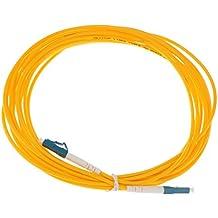 MagiDeal Lc A Lc Singlemode único Núcleo Fibra óptica Cable de Conexión Cable Línea Accesorios - Amarillo-5m