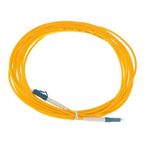 MagiDeal LC-LC Singlemode Single Core Patchkabel Simplex Fiber Optisch Jumperkabel Glasfaserleiter Lichtleiterkabel - Gelb 5M