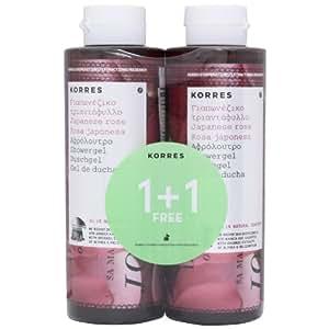 Korres Body Lot de 2 gels douches à la rose du Japon 250ml + 250ml gratuits
