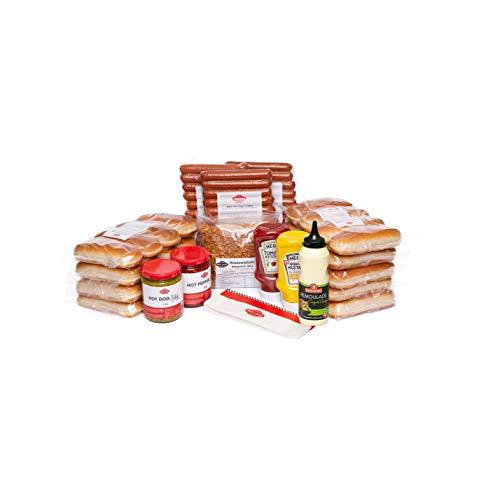Hot Dog World BEEF Hot Dog Party-Paket 36 Stück (Hot Dog Relish + Sweet Green Relish) American Relish