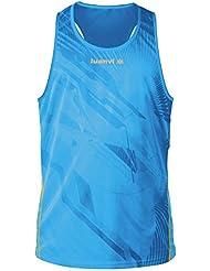 Luanvi Cro Thunder Camiseta Tirantes, Hombre, Turquesa / Naranja, S