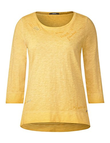Cecil Damen Langarmshirt Gelb (Golden Lemonade 31197)