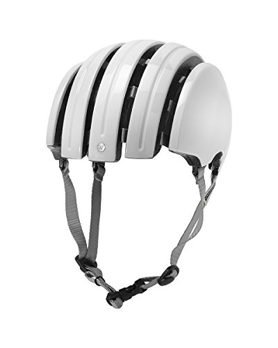 Carrera E00466 Foldable Basic, Casco de Ciclismo Unisex Adulto, Blanco (Shiny White),...