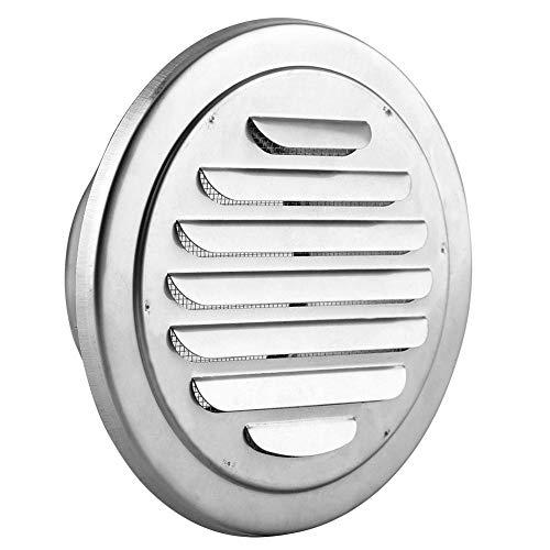 Round Air Vent Grille, Edelstahl-Wand-Luft-Vent-flacher Gitter-Kanal-Ventilations-Abdeckung Outlet-Insekten-Masche