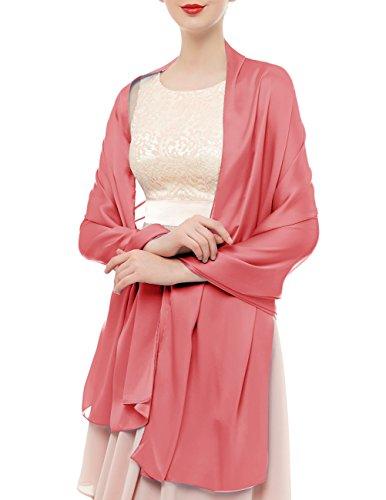 Bridesmay Damen Elegant Seidenschal 180*90cm Seide Halstuch Stola Schal für Kleider in 20 Farben...