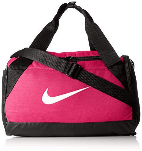 Nike Bolsa NK BRSLA XS Duff Rush Pink/Black/White, Adultos Unisex, Blanco, S