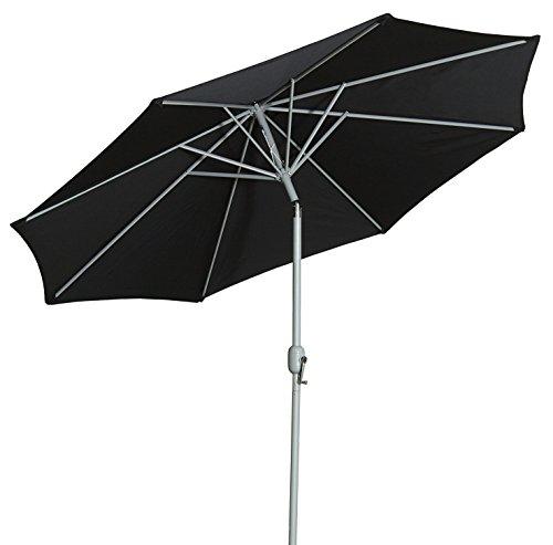 Gartenfreude Sonnenschirm, Durchmesser 270 cm, UV 50+ Schwarz
