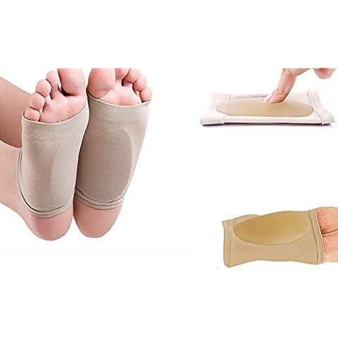 MWS2135 Pack de 2 almohadillas de gel para aliviar el dolor de pies (Ideal para personas con puente