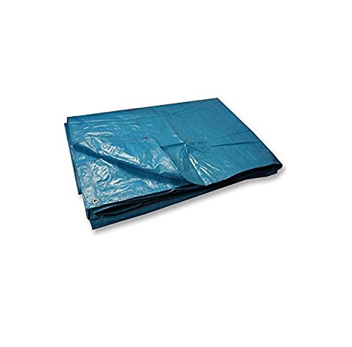 Invero® Multi-Purpose Reversible Waterproof, UV Resistant and Rotproof Polyethylene Tarpaulin ideal for General Cover, Car Cover, Machine Cover, Canopy, Camping Ground Sheet, Shelters, Wind Protector, Privacy Wall, Picnic Mat, Paint Shield, Boat Cover, Fishing, Pool Cover, Caravans and much more - (12 x 10 foot)