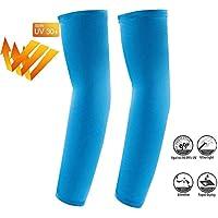arm sleeve Letopro - Mangas de protección UV para hombre y mujer, para deportes al aire libre, protección contra el sol, 1 par (Azul)