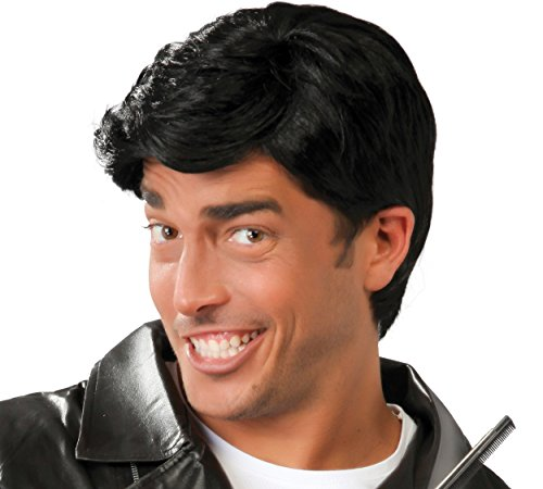 Parrucca nera capelli corti uomo signore parrucca nero carnevale party