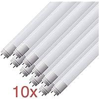 (LA)10x Tubo de LED 120cm, blanco Neutro (4500K) Standard T8 G13-18W (36W sustituye tubo de gas) - luz blanco neutro 4500K- 1800 lm -Venta desde ESPAÑA- Envio gratis