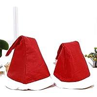 HEJIANGTAO Adornos de Navidad Terciopelo Corto Terciopelo Corto Lentejuelas de Pelo Largo para Adultos niños Santa Hat, Modelos Adultos