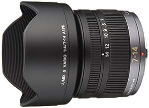 Panasonic H-F007014 SLR Noir lentille et filtre d'appareil photo - lentilles et filtres d'appareil photo (SLR, 16/12, 0,25 m, 0 - 4, Auto/Manuel, 7 - 14 mm)