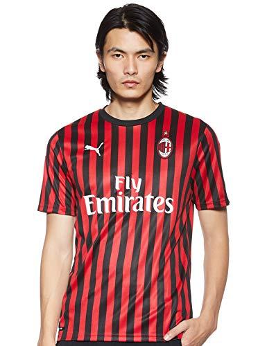 PUMA Herren ACM Home Shirt Replica SS with Sponsor Logo Trikot, Tango Red Black, M