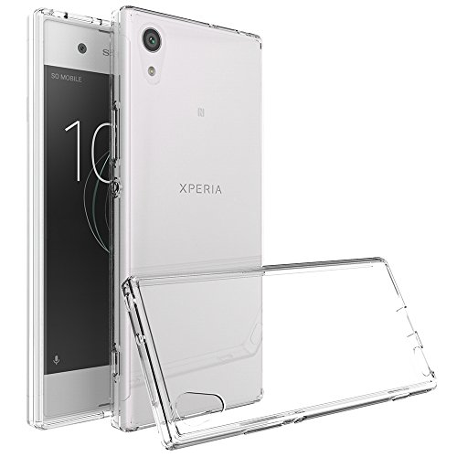 M.G.R.J Ultra Thin 0.33mm Clear Transparent Flexible Soft TPU Slim Back Case Cover for Sony Xperia XA1  available at amazon for Rs.199