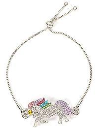 591d7470079d Hlzf Unicornio Color Pulseras De Poni Tachonadas con Diamantes Accesorios  Regalo De La Madre De La
