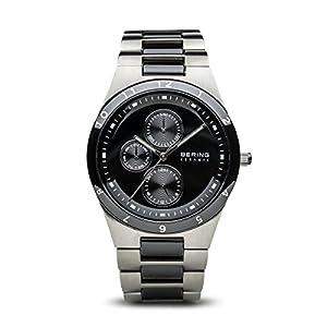 Bering Ceramic – Reloj analógico de caballero de cuarzo con correa