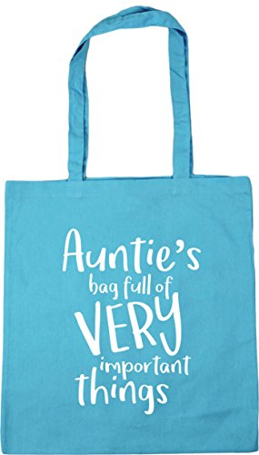 HippoWarehouse Auntie's Bag Full of Very Important Things Tote Shopping Gym Beach Bag 42cm x38cm, 10 litres