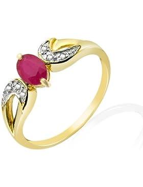 Damen-Ring 9 Karat (375) Gelbgold Diamant 123R0459-11/9AMN-p