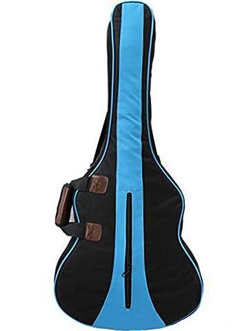 Kglobal 36 Zoll 3/4 Nylon Cotton Akustikgitarre Tasche Rucksack Zwei