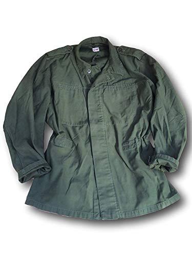 SWEDISH Forces Schwedische Armee Issue M48 Uni Olive Fatigue Jacke, schweres Hemd XXL grün