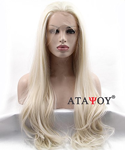 atayou-22-cm-tacto-suave-largo-Rubio-Claro-Lace-Front-Peluca-Resistente-Al-Calor-Peluca-Sinttica-Para-Las-Mujeres-Para-darle-especial-imgenes