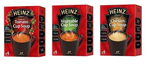 Heinz Cup Suppe-vielfalt Garnitur 6 Kartons Tomaten, Huhn & Gemüse Aromen 2 Packungen x 4 Beutel Von Jedem Augenblick Brühe