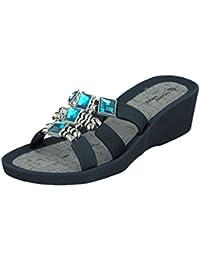 Linea Scarpa MESTRE Zapatillas baño Zapatillas y Zapatos informales Mujer - Negro, 36 EU