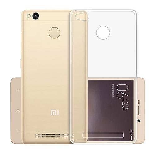 Foso Silicon Transparent Flexible with Protective Shock Proof Case Corner For Redmi 3S Prime