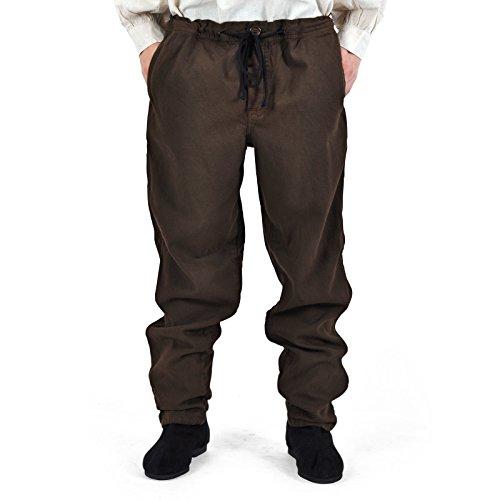 Piratas Pantalones Pantalón medieval gótico (Tallas S–XXXL marrón 4530 marrón 50