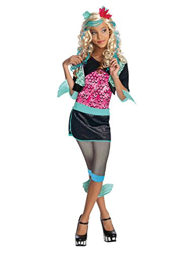 Kostüm Monster Blue - Monster High Lagoona Blue Meerjungfrau Teen Kostüm türkis schwarz pink L