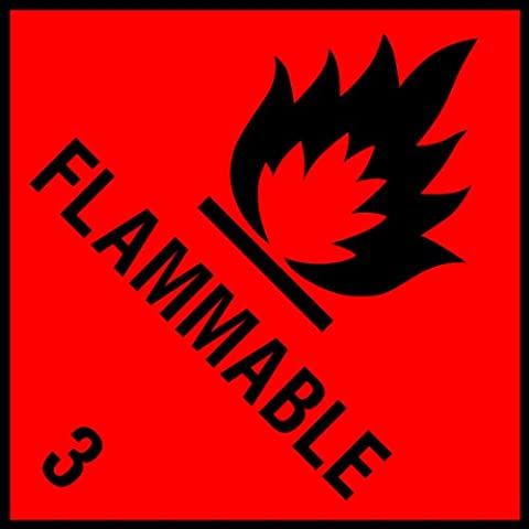 Labels-Direct GHS Hazard Self Adhesive Flammable Labels - Roll of 150 - Premium Quality - BS5609