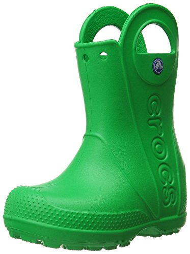Crocs Handle It Rain Boot, Unisex - Kinder Gummistiefel, Grün (Grass Green), 22/23 EU (Stiefel Für Kleinkinder)